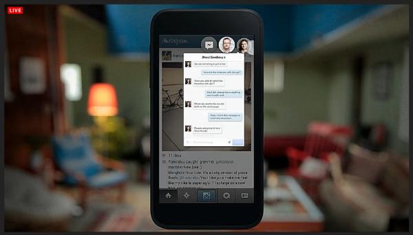 Chatten ist unter Facebook Home ohne Wechsel der App aus jeder Anwendung möglich.