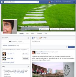 Facebook-Seite von Susanne Plaumann