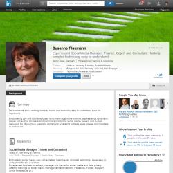 Susanne Plaumann auf LinkedIn